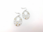 Silver And Gold Sakura Earrings
