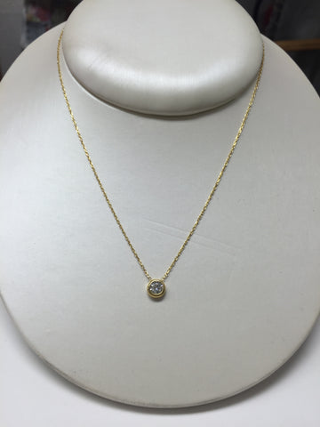 Glint 5MM CZ 24K Gold Necklace