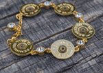 June Shotgun Shell Crystal Link Bracelet