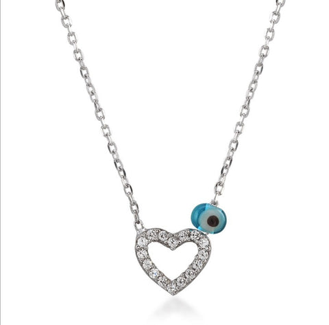Heart Mini CZ 24K Gold Necklace