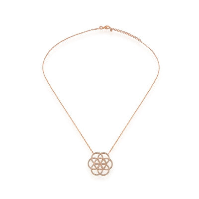 Seed of Life CZ 24K Gold Necklace