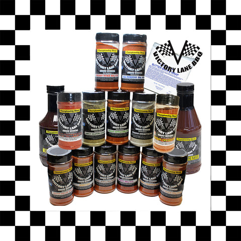 Victory Lane BBQ FULL SET OF 16 PRODUCTS in a gift BOX!