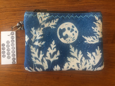 Rabbit in the Moon Indigo Coinpurse