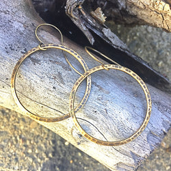 Hoop Earrings - Bohemian Style in Bronze