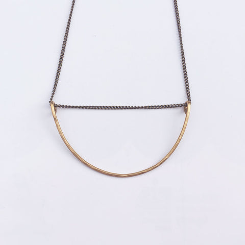 Crescent Necklace - Brass