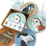 Bird of Prey Fabric Coaster Set