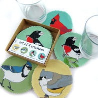 Eastern Songbird Coaster Set -- Backyard Birds