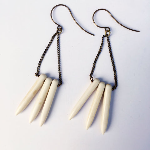 Magnesite Spike Geometric Earrings