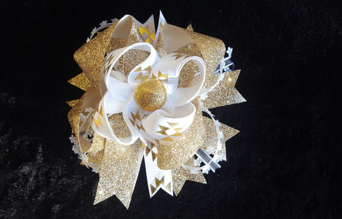 Glitter Gold Hair Bow