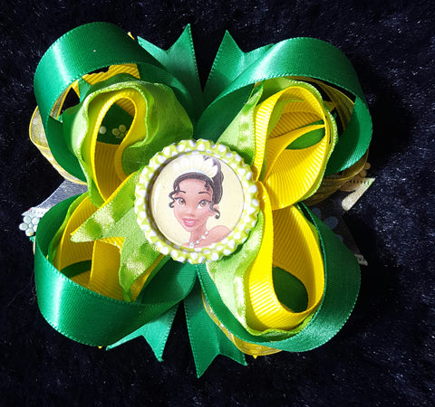 Princess Tiana Hair Bow1