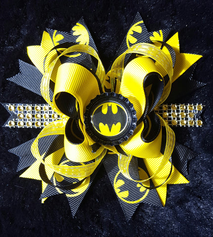 Batman Hair Bow Clip