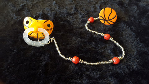 Basketball Pacifier & Clip