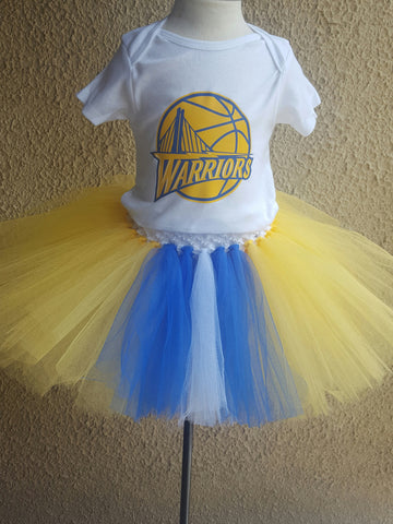 Golden State Warrior Tutu Dress
