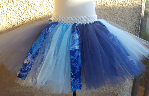Frozen Tutu w/ Fabric Accents
