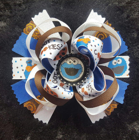 Cookie Monster Hair Bow1