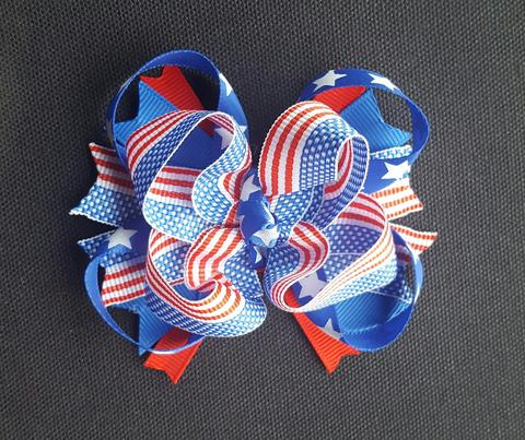 4th of July Hair Bow 4