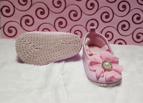Baby Pink Pearl Bling Shoes