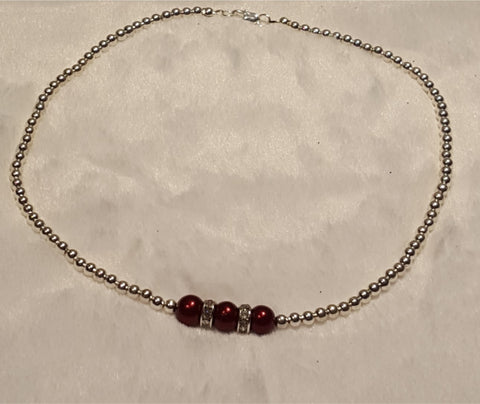 Burgundy Necklace
