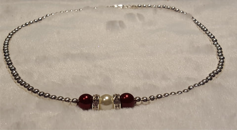 Burgundy & Ivory Necklace