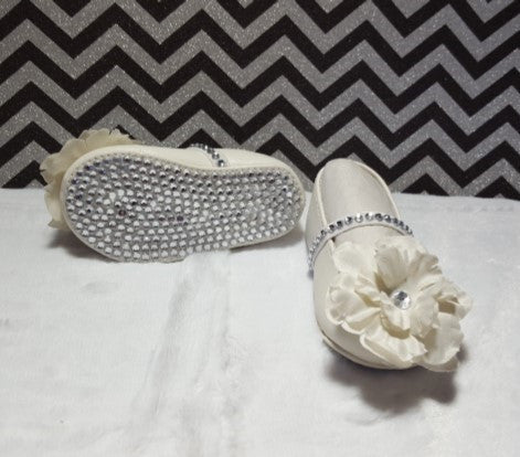 White & Silver Bling Shoes