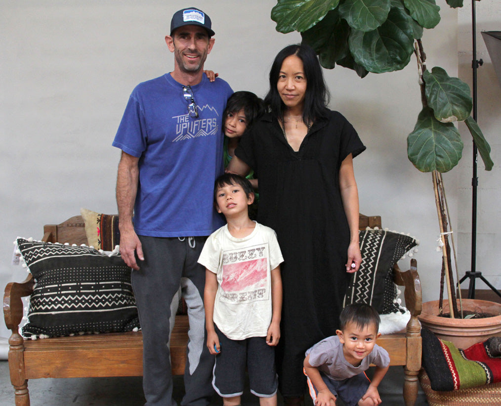 Staci Woo and Mike Badt with their children
