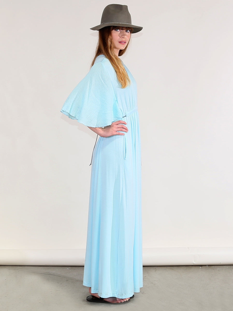 Riviera Maxi in Aqua,maxi dress, Woo- Woo