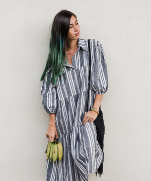 Oversize Tunic Dress - stripes,, Woo- Woo