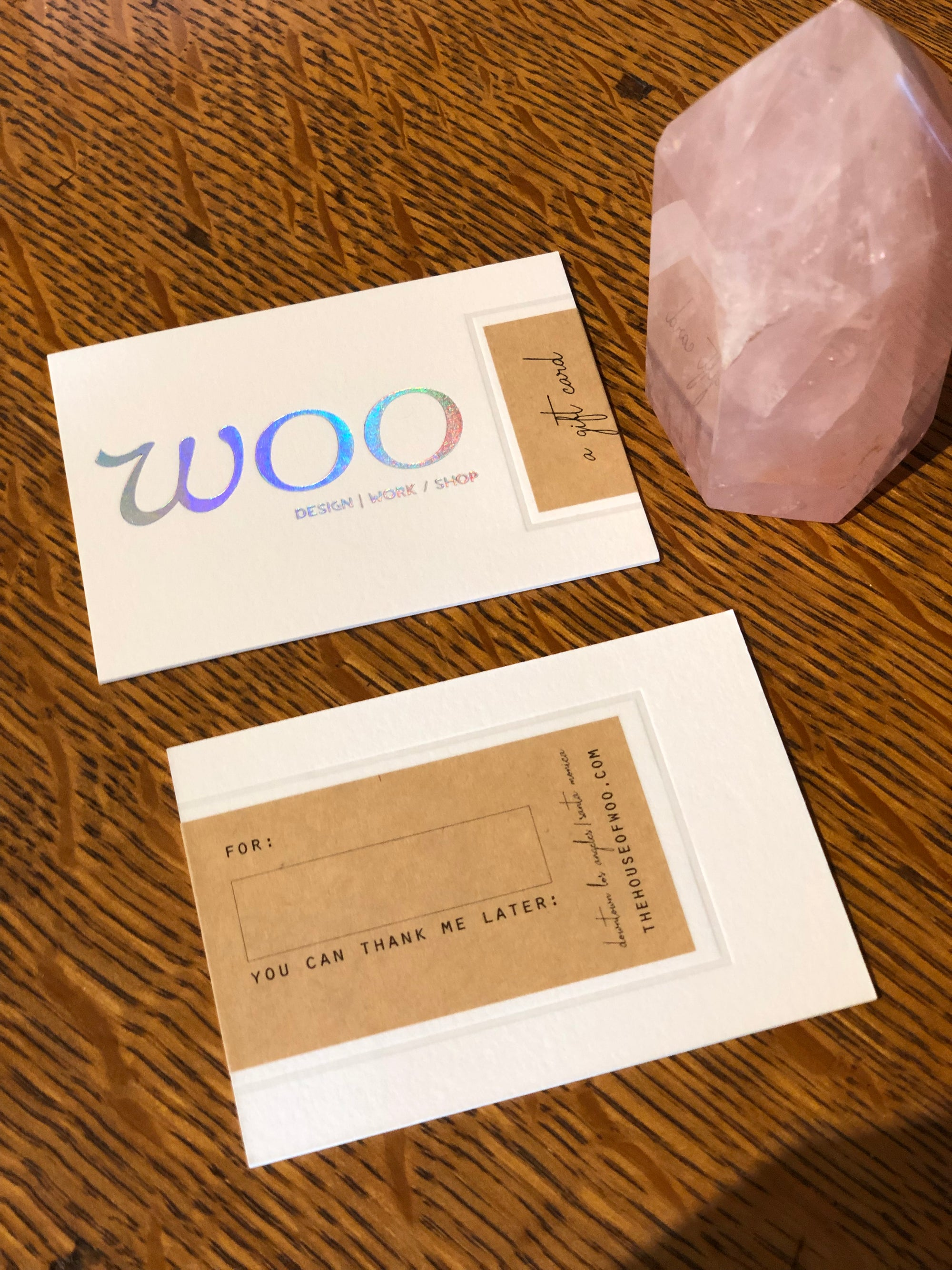 Woo Letterpress Gift Card,Card, The House of Woo- Woo
