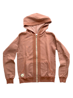 Latimer Zip Hoodie - Clay,sweatshirt, The Uplifters- Woo