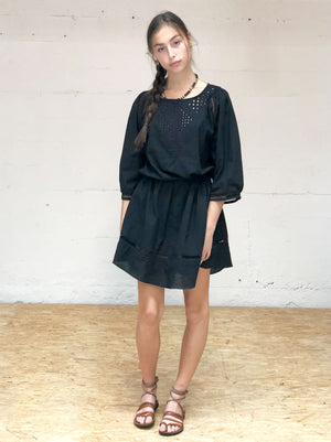 Drawcord Minidress - Black,, Woo- Woo