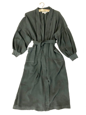 Billow sleeve Kimono Robe-coal,top, Woo- Woo