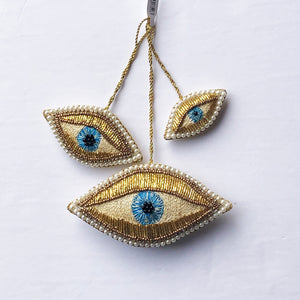 Evil Eye Trio Ornament