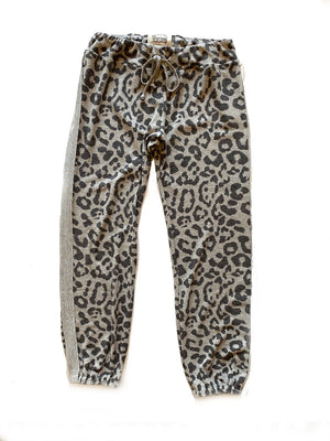 1973 Sweatpants - distressed leopard,sweat pant, The Uplifters- Woo