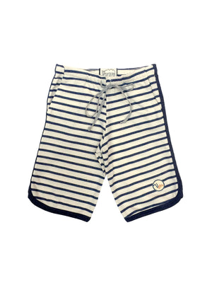 Kids Haldeman Sweatshort - Navy Stripe,sweatshort, The Uplifters- Woo