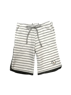 Kids Haldeman Sweatshort - Grey Oat Stripe,sweatshort, The Uplifters- Woo