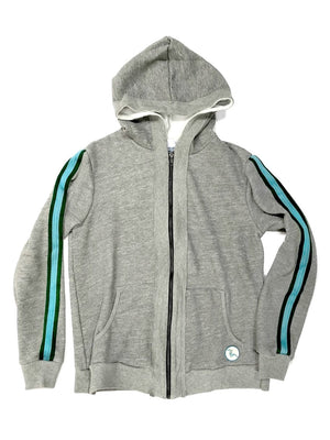 Latimer Zip Hoodie - Heather Grey,, The Uplifters- Woo
