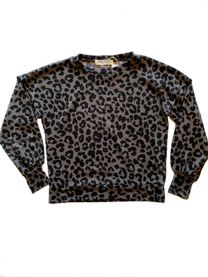 Leopard Hatchi Pullover,, The Uplifters- Woo