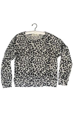 Drop Sleeve Pullover - distressed leopard,, The Uplifters- Woo