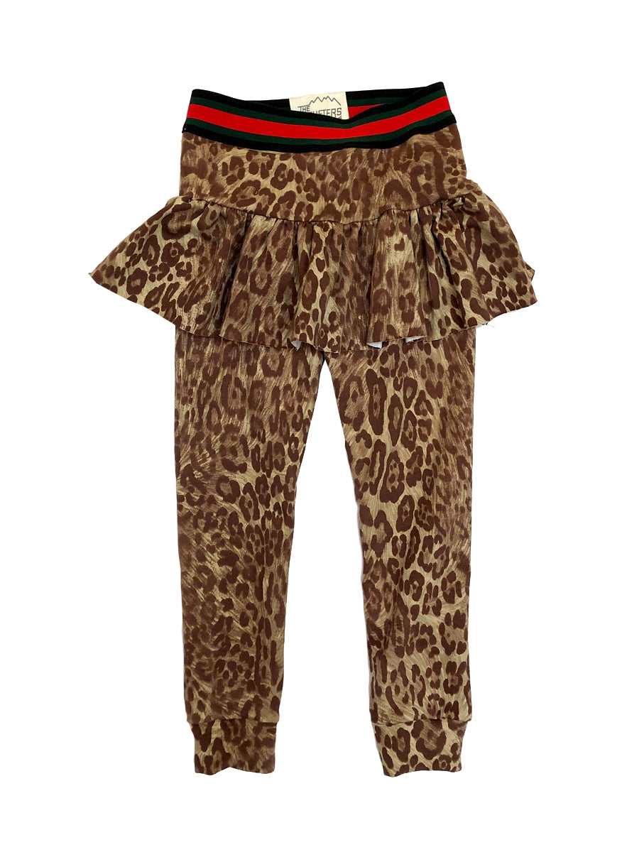 Kids Leopard Skirted Legging,, The Uplifters- Woo