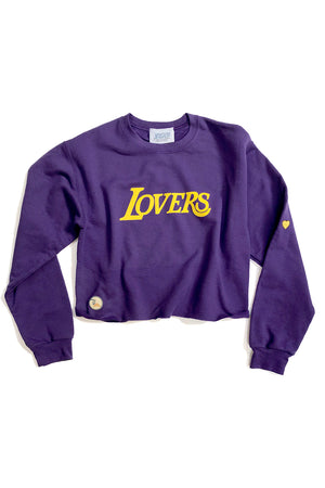 Lovers Cropped Sweatshirt,, The Uplifters- Woo