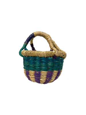 Ghanaian Multicolored Mini Bolga Basket