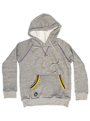 Youth Neighbor Track Hoodie - Purple & Gold,sweatshirt, The Uplifters- Woo