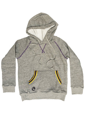 Youth Track Hoodie - Purple & Gold,sweatshirt, The Uplifters- Woo