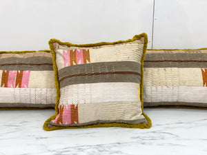 Vintage Textiles Pillows - Nigerian wedding textile