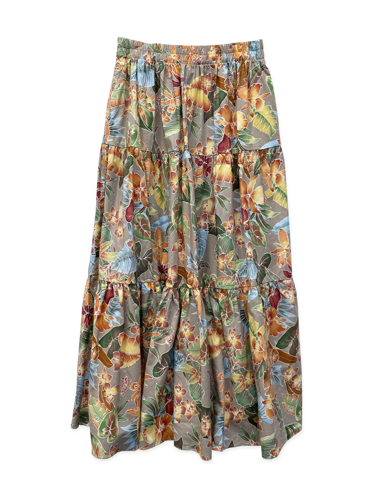 Frida Tiered Maxi Skirt in North Shore Floral