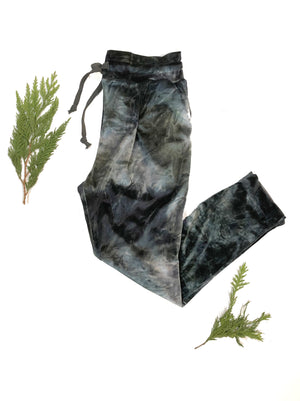 Crushed velvet Jogger- moonwash,pant, Woo- Woo