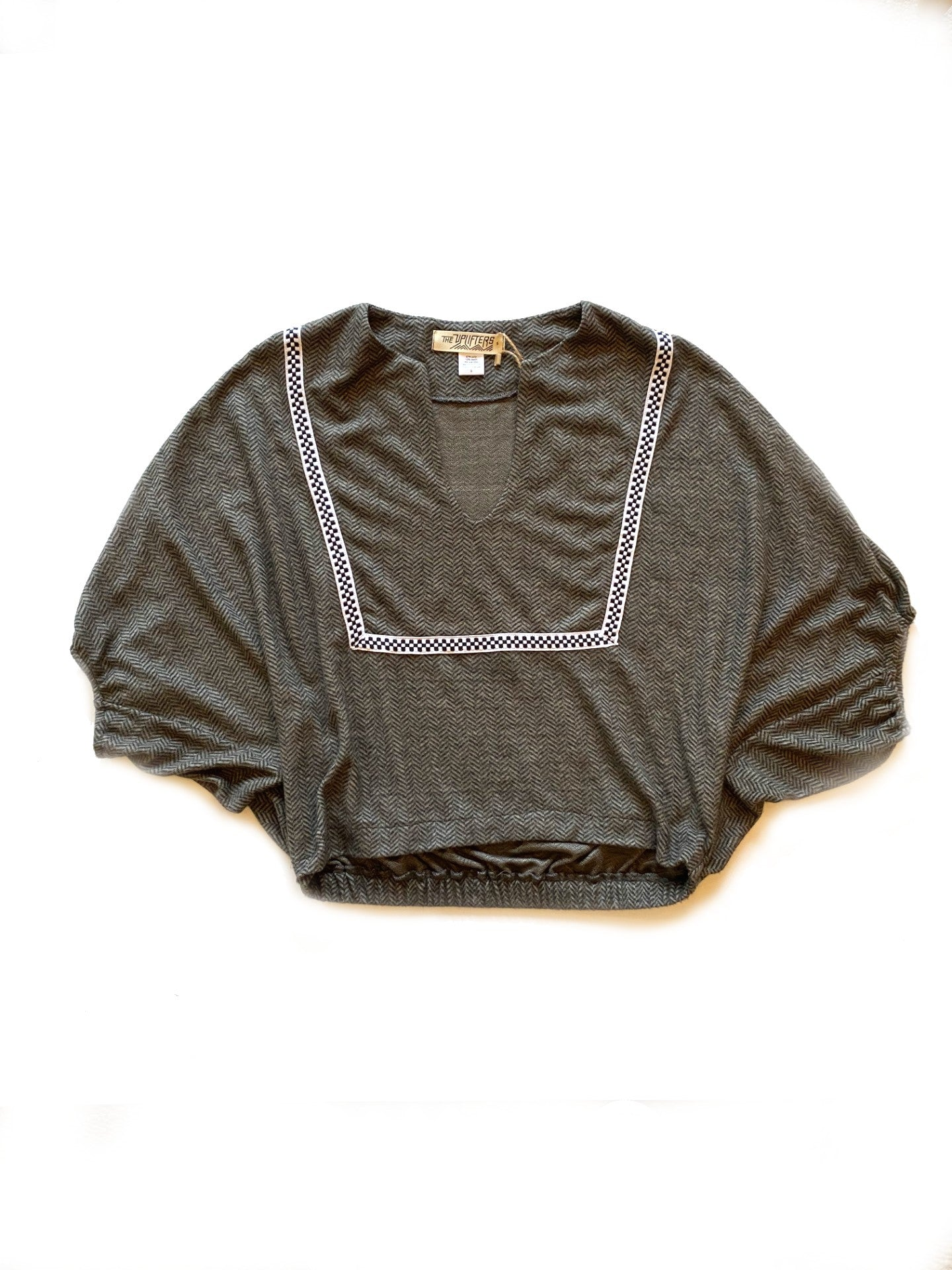 Herringbone Pullover Top,, The Uplifters- Woo