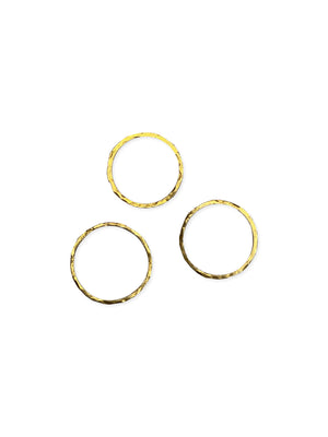 Hammered Vermeil Stackable Ring