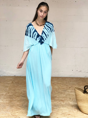 Riviera Maxi Dress - Triangle tide wash Aqua