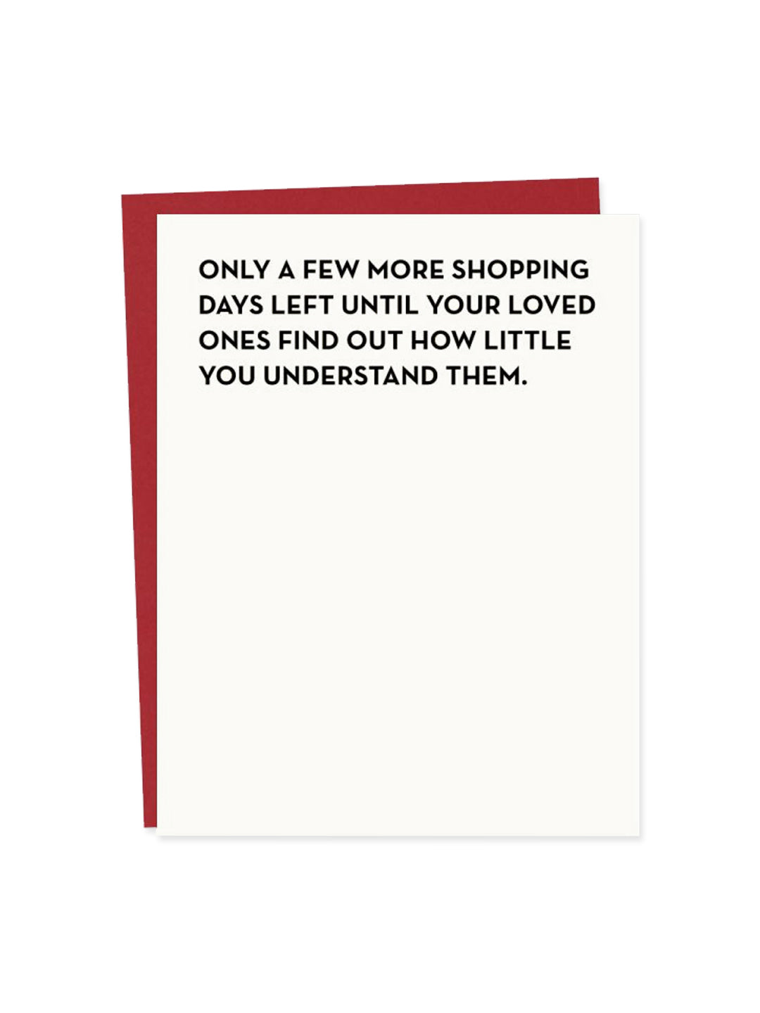 Shopping Days Card